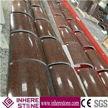 India Red Granite Column Tops/ Imperial Red Granite Columns/ Building Decorative Stone Columns