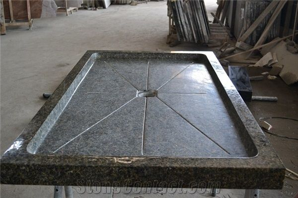 Beau Square Black Granite Honed Shower Tray Stone Shower Panel For Bathroom G684  Tub Base Solid Surface Shower Base