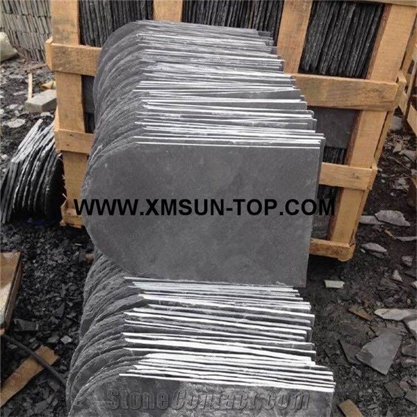Chinese Grey Roof Slate Tile with U Type/Slate Roofing/Grey