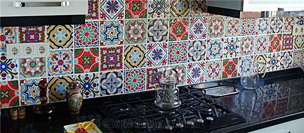 3d Andalusia Hand Painted Wall Tiles Kitchen Hand Painted Wall Murals From Turkey