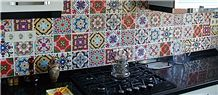 3d Andalusia Hand Painted Wall Tiles, Kitchen Hand Painted Wall Murals