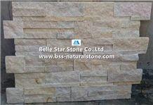 Light Yellow Jade Quartzite S Stone Cladding, 18x35 Thin Stone Veneer, Quartzite Culture Stone, Natural Stacked Stone,Yellow Quartzite Ledgestone,Natural Stone Wall Panels,Indoor/Outdoor Wall Cladding