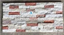 Natural Quartzite Stone Cladding,White+Pink Jade Quartzite Culture Stone,Quartzite Ledgestone,Natural Z Stone Wall Panels,Real Thin Stone Veneer,Quartzite Stacked Stone,Porches Wall Cladding
