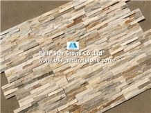 Oyster Split Face Slate Stacked Stone,White Gold Quartzite Culture Stone,Desert Gold Quartzite Ledge Stone,Honey Golden Quartzite Thin Stone Veneer,Silver Sunset Quartzite Z Stone Wall Panels 10x36
