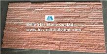 Pink Jade Quartzite Waterfall Shape Ledgestone,Peach Quartzite Mini Culture Stone,Pink Quartzite Stone Veneer,Quartzite Slim Stacked Stone,Quartzite Stone Cladding,Pink Quartzite Stone Wall Panels