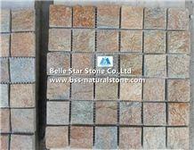 Rustic Quartzite Mosaic,Quartzite Wall Mosaic,Multicolor Quartzite Mosaic Pattern,Quartzite Floor Mosaic,Natural Quartzite Stone Mosaic,Rustic Mosaic Tiles,Interior Wall Mosaic Stone,Flamed Quartzite