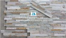 Silver Sunset Quartzite Stone Wall Panels,Oyster Split Face Slate Z Stone Cladding,Desert Gold Quartzite Culture Stone,White Gold Quartzite Ledgestone,Honey Golden Quartzite Thin Stone Veneer