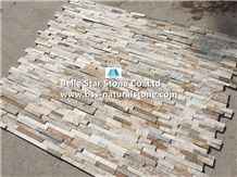 Silver Sunset Quartzite Thin Stone Veneer,Oyster Split Face Slate Culture Stone,White Gold Quartzite Ledgestone,Golden Honey Quartzite Stacked Stone,Desert Gold Quartzite Z Stone Panels,Stone Cladding