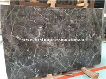 Cheap Dark Grey Marble/New Polished Star Grey Marble Slabs & Tiles/Universe Grey(Black) Marble Slabs/Cut to Size/Floor & Wall Covering/Interior & Exterior Decoration/Made in China Marble Big Slabs