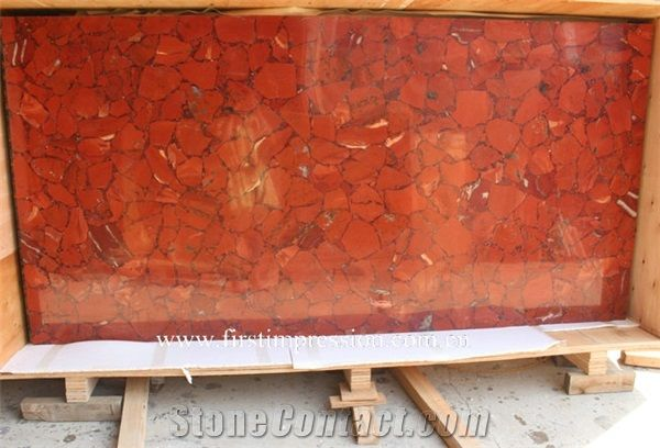 Red Jasper Semiprecious Stone Slab Red Gemstone Tiles