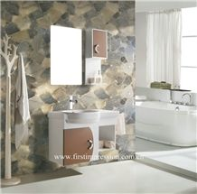 Smoke Crystal Bathroom Design,Grey Quartz Bathroom Wall Panel,Grey Semiprecious Bath Ideas,Semiprecious Stone Bathroom Flooring,Grey Quartz Gemstone Slab& Tiles