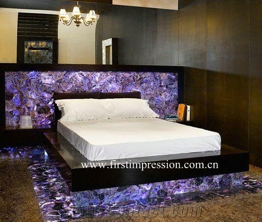 Violet Semi Precious Home Decoration Purple Crystal