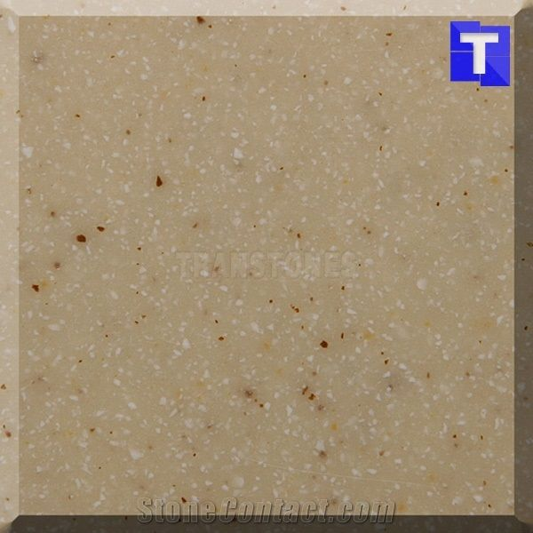 Composite Artificial Golden Limestone Glass Slabs, Solid Surface ...