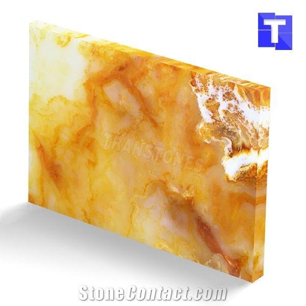 New Material Artificial Golden Sahara Onyx Wall Panel,Floor Tiles ...