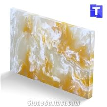 New Material Artificial Zebra Cream Jade Onyx Tiles Wall Panel Floor Tiles,Alabaster Slabs for Kitchen Bar Tops,Bath Tops Translucent Backlit Customzied Design, Solid Surface Onyx Manufacture