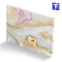 New Material Artificial Zebra Rainbow Jade Onyx Wall Panel Floor Tiles,Alabaster Glass Stone Slabs for Kitchen Bar Tops,Bath Tops Translucent Backlit Customzied Design, Solid Surface Onyx Manufacture