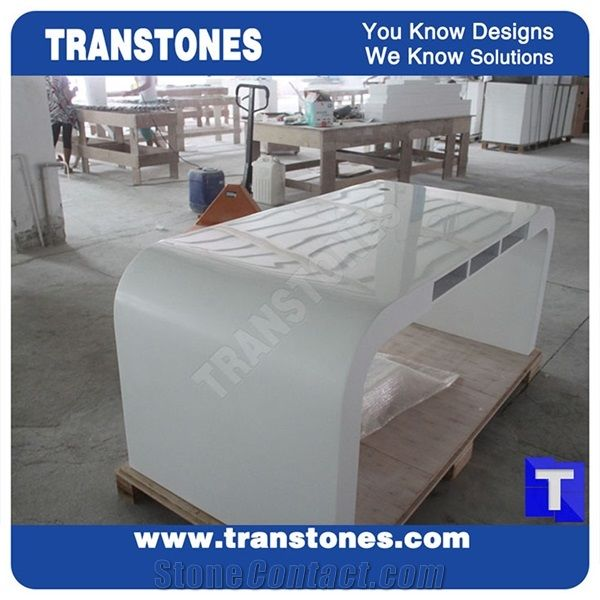 Good Price Furniture: Project Show Pure Snow White Artificial Marble Stone