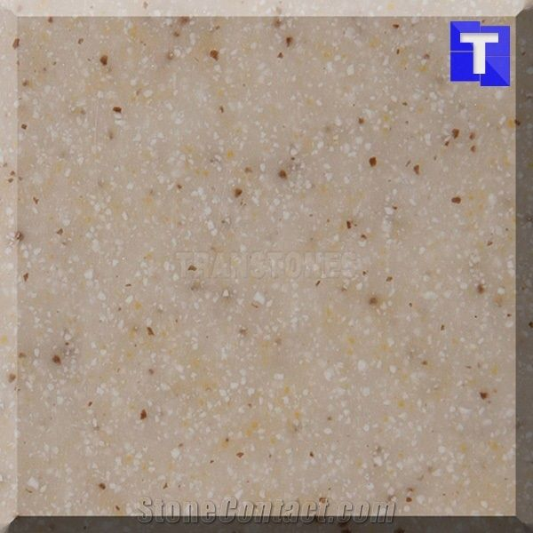 Sesame Beige Acrylic Tiles Cream Artificial Marble Look Solid - Acrylic tiles for bathrooms