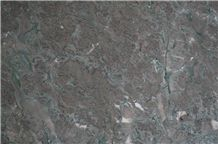 Red with Blue Vein Marble, Polished
