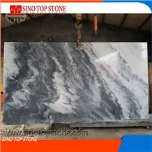 Cheap China Cloudy White Polished Marble,White Cloudy Marble Landscaping Decoration,Grorious Mountain Marble,Landcape Painting Marble