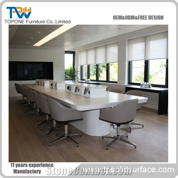Interior Stone Manmade Stone Conference Table Design Artificial - Stone conference table