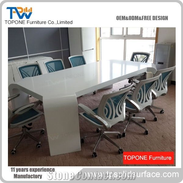 Manmade Stone Modern Artificial Marble Stone Conference Table Design - Marble conference table for sale
