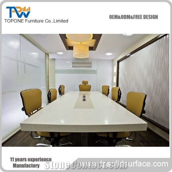 Modern Design Artificial Marble Stone Acrylic Solid Surface - Conference room table tops