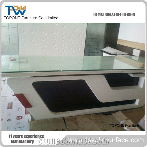 New Design Artificial Marble Stone Front Service Counter With Glass Tops Acrylic Solid Surface Bank Service Counter Design Interior Stone Bank Furniture From China Stonecontact Com
