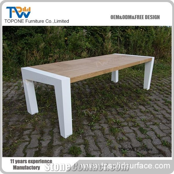 Square Shape Interior Stone Artificial Marble Stone Conference Table - Stone conference table