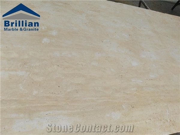 Cream Light Travertine Tiles Slabs Beige Polished Travertine Floor