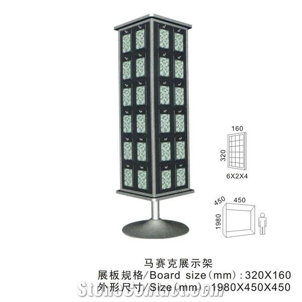 Black Marble Display Racks Tile