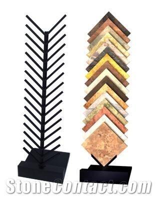 Granite Display Rack Quartzite Tile Waterfall Display