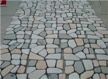 Granite Cubes on Net, Dayang Red&G603&G682&G654 Pavers, Natural Split/Tumbled Paving Sets, for Driveway & Garden & Courtyard Paving