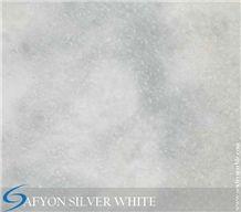 Afyon Silver White Marble, Grey Marble, Light Grey, Light Silver, Turkey Grey