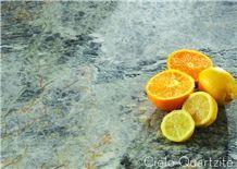 Cielo - Botanic Bordeaux Exotic Quartzite Kitchen Countertops