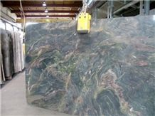 Cactus Pink Polished 3cm Slabs, Verde Chain Granite