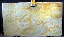 Golden Zeller Quartzite Polished 3cm Slabs, Brazil Yellow Quartzite