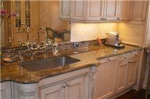 Breccia Montana Dark Quartzite Kitchen Countertop
