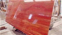 Red Travertine Slabs from Iran