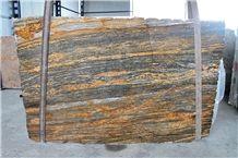 Thunder Wave Granite Slab, Brazil Brown Granite