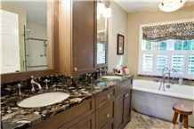 Morgan Black Granite Bathroom Vanity Top