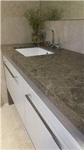 Grigio Artemis Honed Bathroom Vanity Top