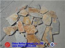 Irregular Rusty Slate Stepping Stone, Yellow Slate Flagsto,Rusty Slate Flagstone, Beige Slate Irregular Flagstones