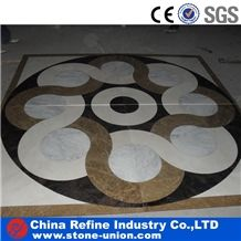 Marble Medallion Flooring, Square Popular Marble Tiles , Top Quality Marble Floor Paving