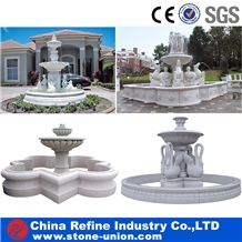 Polished White Marble Garden Fountains