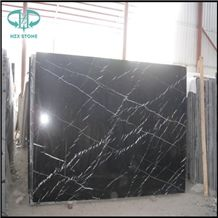 Chinese Nero Marquina Slab, China Negro Marquina, Mosa Classico, China Black with Vein Marble Big Slab &Tile, China Black Marquina Marble, Black Marble Polished Slab for Wall Cover, Flooring