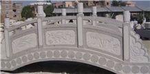 Garden Decoration Landscape Stone Bridges, Carved Palisade