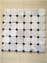 Lantern Shape Bianco Carrara White Marble Mosaic