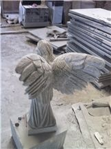 Angle Sculpture, G603 Grey Granite Sculpture & Statue