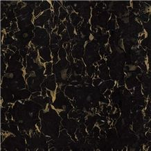Black Golden Flower Marble Slabs